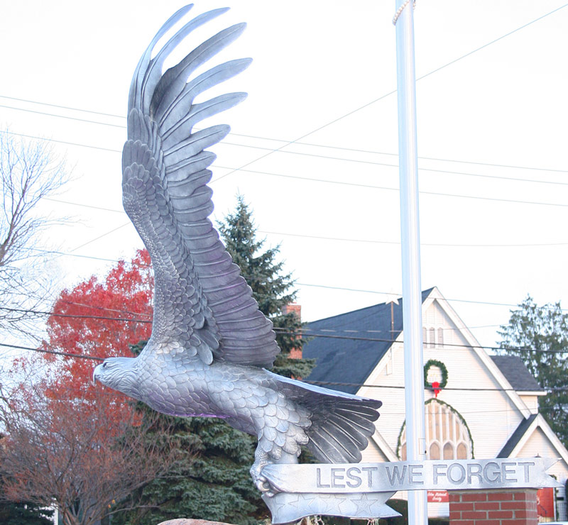 Solon Veterans Memorial Eagle