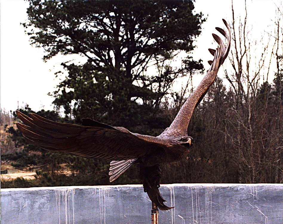 Wild Timber Eagle Fountain